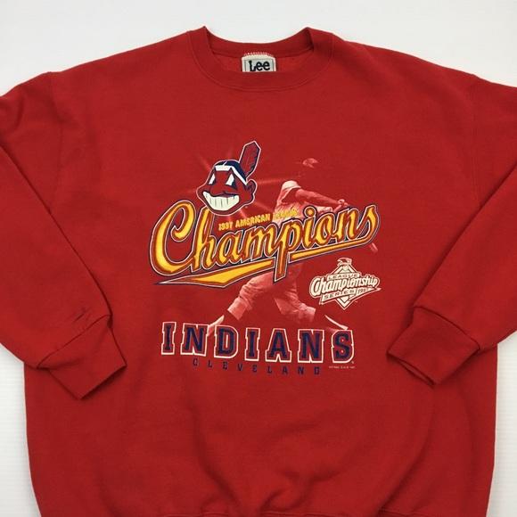 size 40 5576e 4f044 Vintage Cleveland Indians Champions Sweatshirt XL